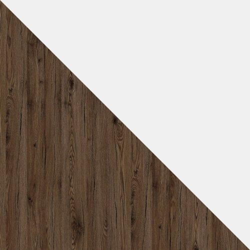 stejar san remo inchis / alb mat